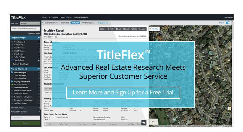 TitleFlex Advanced Real Estate Research Meets Superior Customer Service