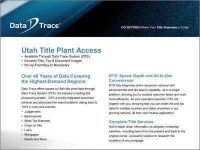 Salt Lake County, Utah Title Plant Access