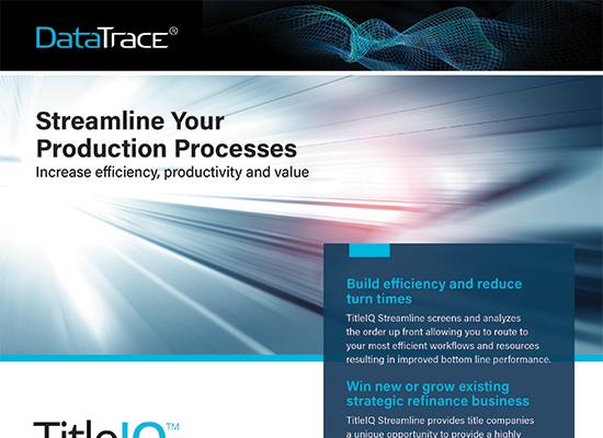 DataTrace TitleIQ The Ultimate Title Automation Solution
