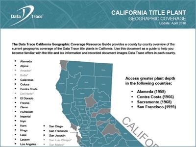 Data Trace California Title Plant Coverage