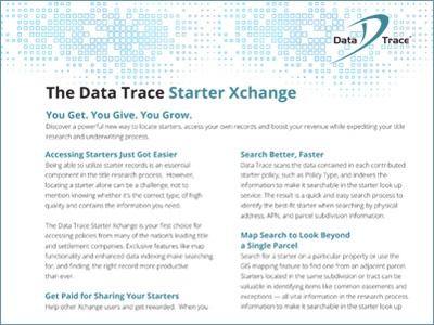Data Trace Custom Data Solutions Product Sheet