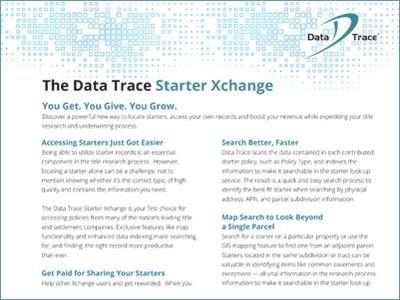 Data Trace Custom Data Solutions Product Sheet