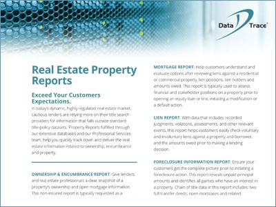 Data Trace Real Estate Property Reports