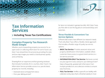Data Trace Tax Information Services