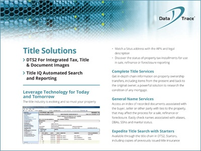 Data Trace Title Solutions Overview