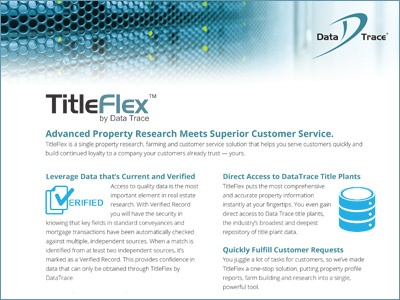 Data Trace TitleFlex Overview