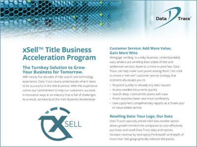 Data Trace xSell Title Business Acceleration Program