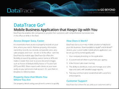 DataTrace GO Mobile Application