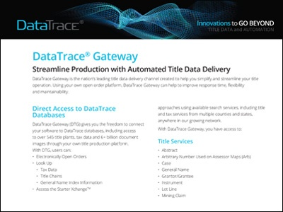 Gateway Automated Title Data Delivery