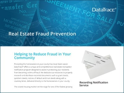 DataTrace Real Estate Fraud Prevention