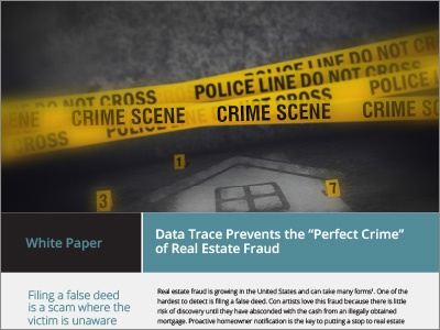 Data Trace Real Estate Fraud White Paper