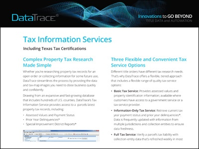 DataTrace Tax Information Services