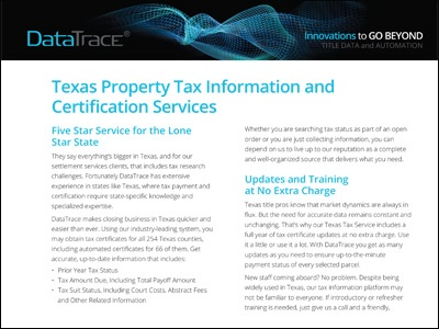 DataTrace Texas Property Tax Services