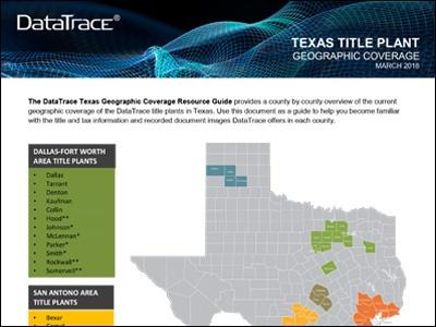 DataTrace Texas Title Plant Coverage