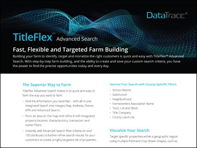 DataTrace TitleFlex Advanced Search