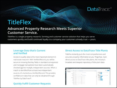 DataTrace TitleFlex Overview