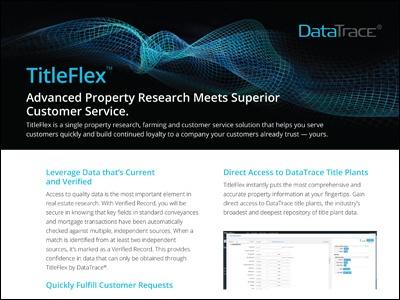 DataTrace TitleFlex Overview